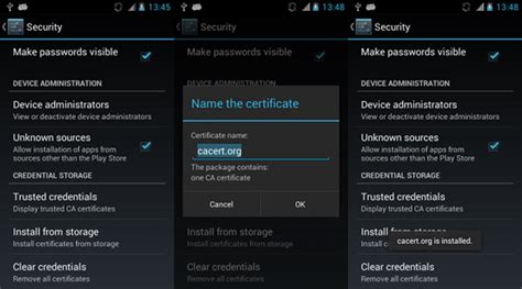 android certificate installer vsza techblog installing cacert on android without root