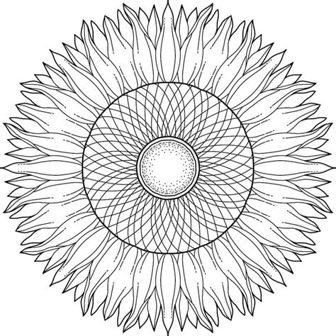 sunflower mandala coloring pages 168 best images about printable mandalas to color free