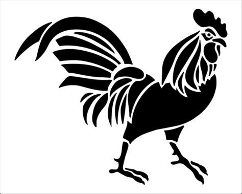 simple designed black ink music simple black ink walking rooster design