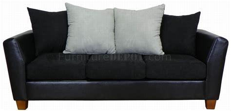 black fabric sofa sets black fabric leatherette modern sofa loveseat set w