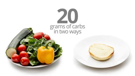 5 grams carbohydrates 20 and 50 grams of carbs how much food is that diet