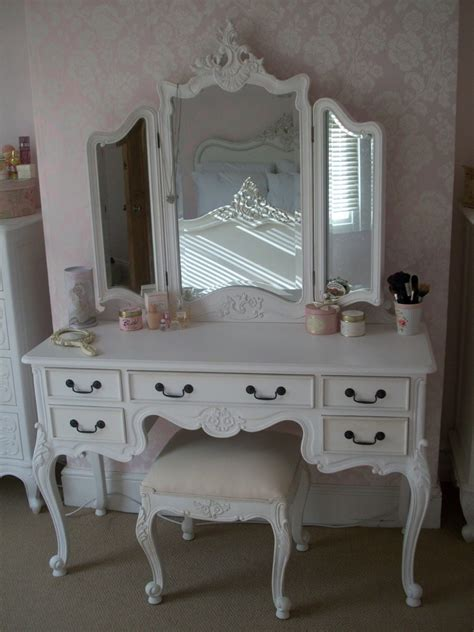 makeup vanity table with mirror ivory stained wooden mirror vanity dressing table and ivory wooden stool with white leather seat