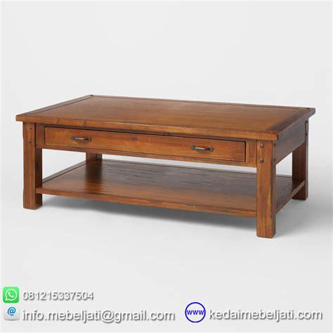 Jual Meja Console Jati 2 Laci Meja Minimalis Produk Jepara beli meja kopi minimalis dengan laci bahan kayu jati