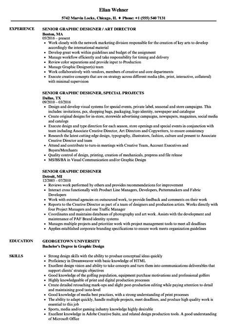 resume format for senior fashion designer senior graphic designer resume sles velvet