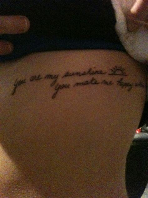 you are my sunshine tattoo you are my you make me happy when skies are grey