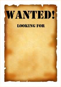 Wanted Poster Template Word by Wanted Poster Template Www Imgkid The Image Kid