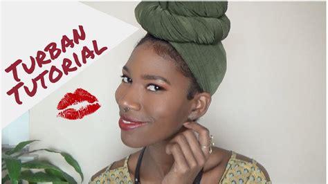 turban tutorial natural hair easy turban tutorial natural hair friendly kashtv youtube
