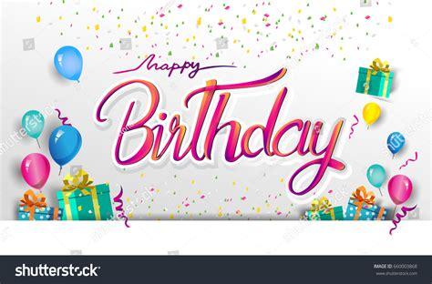 happy birthday vector design happy birthday typography vector design greeting 스톡 벡터