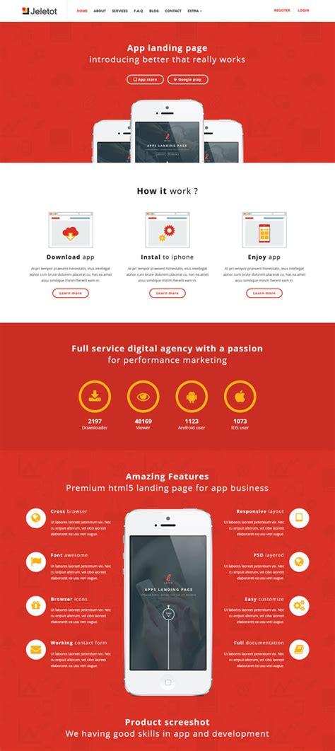 app landing page template 25 best responsive app landing page templates designmaz