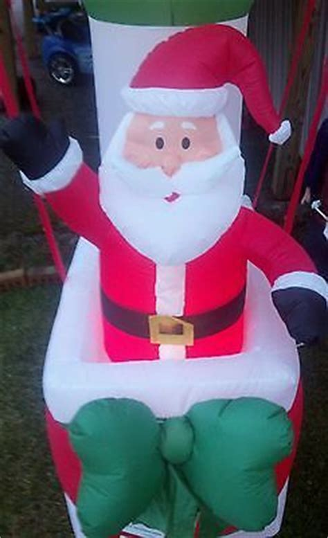 all outdoors christmas balloons santa in a air balloon airblown outdoor decoration air balloon