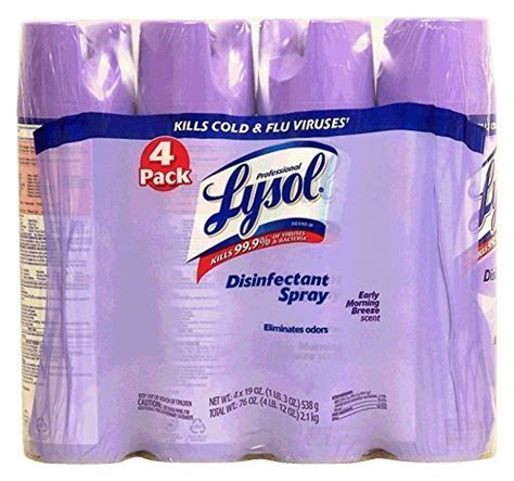 lysol early morning breeze scent aerosol cans  pack  oz  ebay