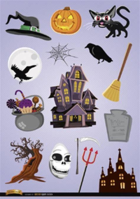 imagenes para halloween animadas de dibujos animados de halloween elementos del vector