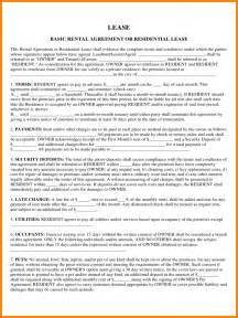 6 Basic Residential Lease Agreement Inventory Count Sheet