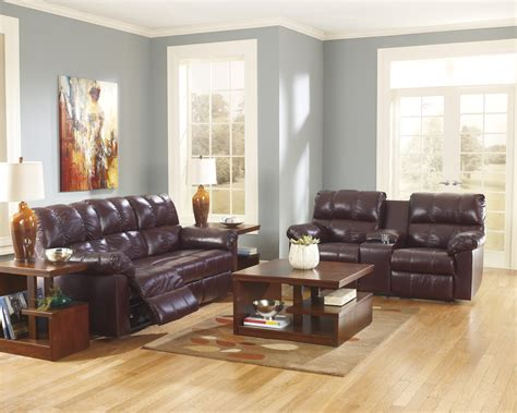 burgundy living room furniture buy ashley furniture kennard burgundy reclining living