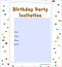 birthday invites template sle birthday invitation template 40 documents in pdf