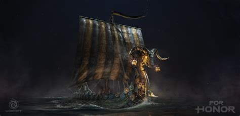 viking longboat wallpaper vladimir somov for honor cinematics viking drakkar