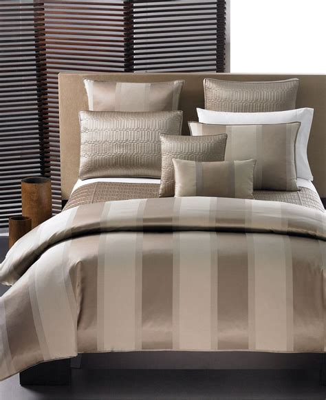 hotel bed comforter closeout hotel collection quot wide stripe bronze quot bedding