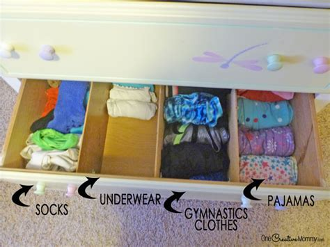 How To Organize Clothes Drawers by Organizing Drawers With Dividers Onecreativemommy