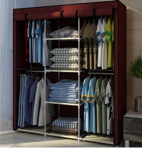 bedroom wardrobe storage new portable bedroom furniture clothes wardrobe closet storage cabinet armoires ebay