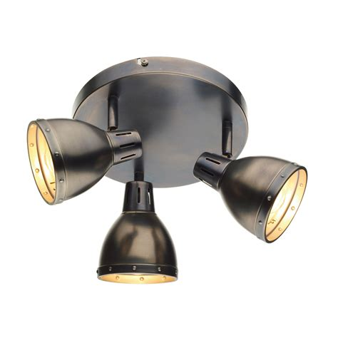 spotlight ceiling lights dar osa7661 osaka 3 light antique chrome ceiling spotlight