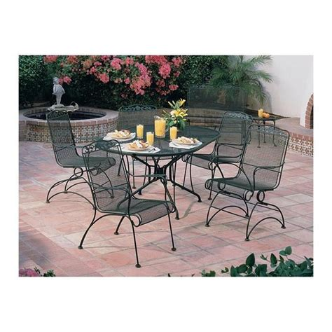 Nfm Patio Furniture Woodard Wildflower Mesh 5 Dining Set Outdoor Patio Trends Pinterest Dining Sets
