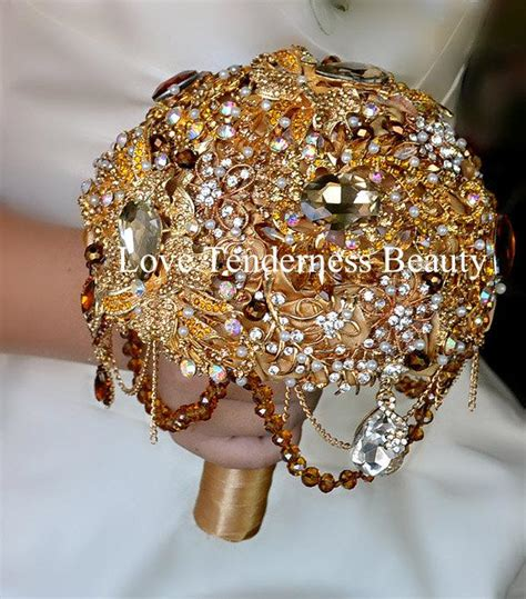 Wedding Bouquet Gold by Baroque Brooch Bouquet Gold Wedding Brooch Bouquet