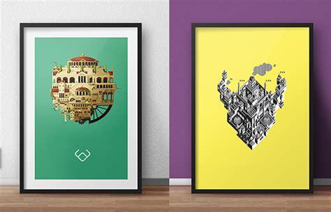 Psd Poster Mockups On Behance Digital Mock Up Templates