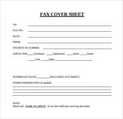 Template For Fax Cover Sheet by Blank Fax Cover Sheet 15 Free Documents In Pdf