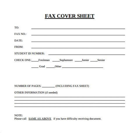blank fax cover sheet 15 download free documents in pdf