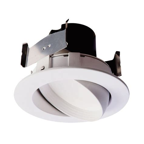 recessed led retrofit light trim halo ra 4 in white integrated led recessed ceiling light