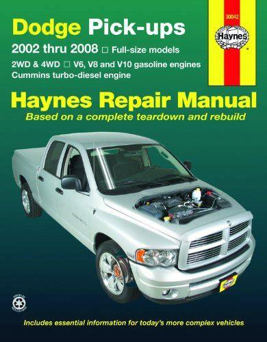 free online car repair manuals download 2008 dodge ram seat position control telecharger le pdf fancais free download dodge pick ups 2002 thru 2008 haynes repair manual