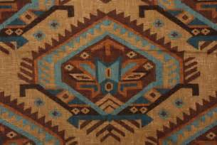 Western Upholstery Richloom Saranac Southwestern Printed Linen Drapery Fabric