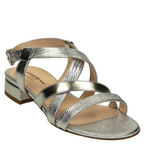 silver metallic sandals s low heels silver metallic leather strappy sandals