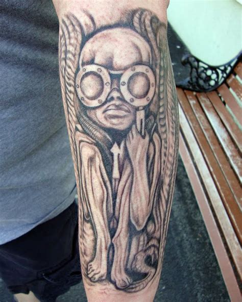 hr giger tattoo by jim brautigam source h r giger museum