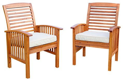 outdoor patio lounge chairs acacia patio chairs with cushions set of 2 craftsman