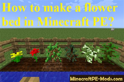 how to make a bed in minecraft pe how to make a flower bed in minecraft pe guides faq mcpe