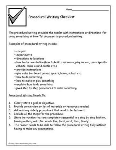 25 best ideas about procedure writing on pinterest