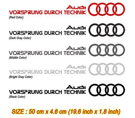 Audi Slogan by Detailkorea Vorsprung Durch Technik Audi Slogan Car Decal