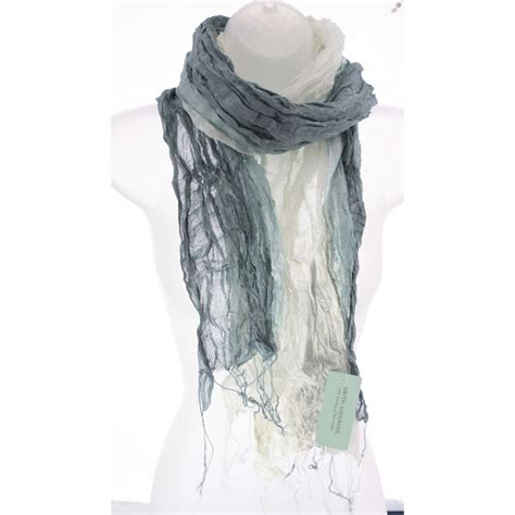 Fossil Grey buy fossil grey silk wrinkle scarf by earth squared from