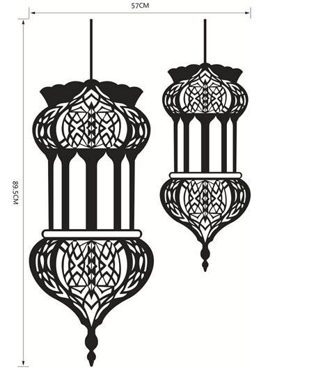 islamic pattern wall stickers halloween islamic lantern wall stickers muslim pattern art