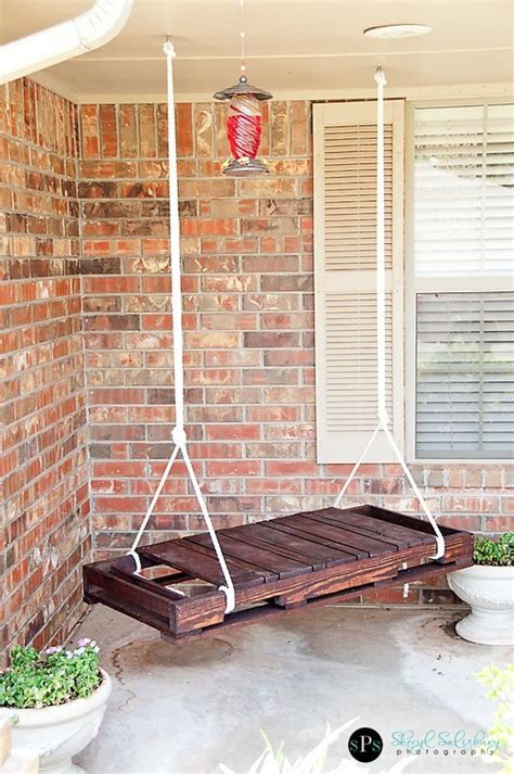 pallet swing bench diy pallet swing