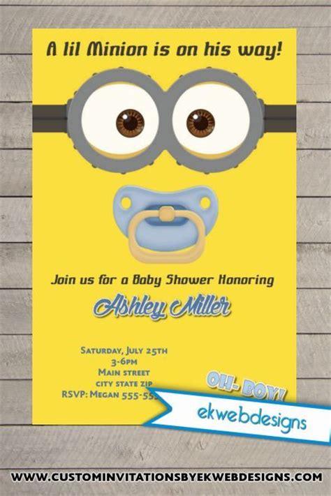 Best 25 Minion Birthday Invitations Ideas On Pinterest Minion Invitation Minion Party Minion Baby Shower Invitation Template