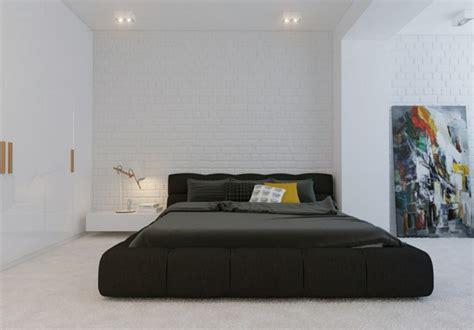 chambre de nuit moderne installer une table de nuit suspendue pr 232 s de lit
