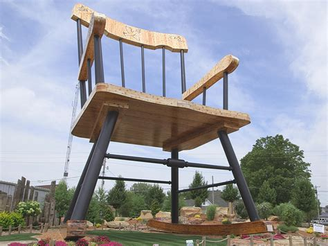 largest rocking chair a small town dreams big cbs news