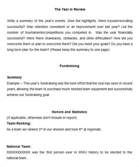 year end summary report template 18 end of year report templates free sle exle