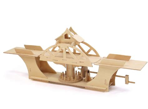 pathfinders swing bridge educational wood kit  hobbies