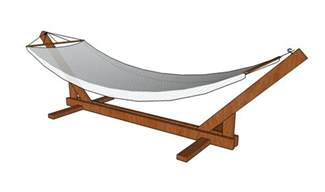 wood work plan to build a wooden hammock stand pdf plans