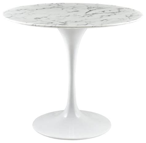white faux marble top dining table modway lippa faux marble top dining table white 27 5