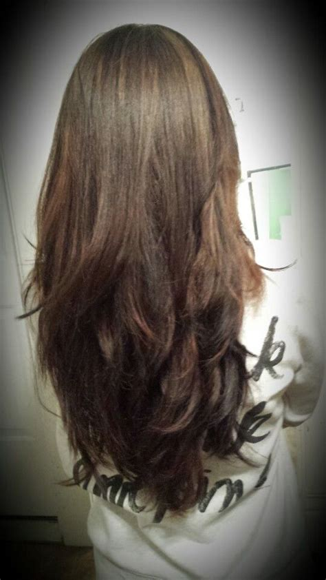 long hair short layer cut and blow out beautiful 48 best images about malia s on pinterest how to braid
