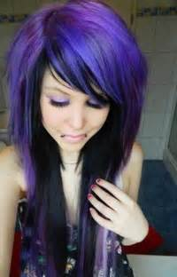 black with purple hair black and purple hairstyles